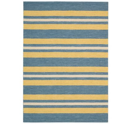 Barclay Butera Oxford Ports 7-Foot 9-Inch x 10-Foot 10-Inch Rug in Blue/Yellow