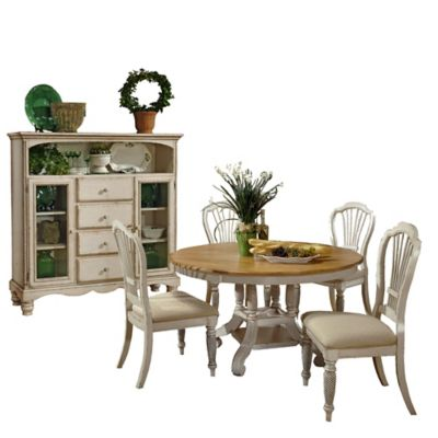 Hillsdale Wilshire 6-Piece Dining Set with Baker's Cabinet