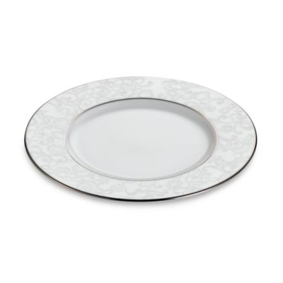 Lenox® Venetian Lace Accent Plate in White/Platinum