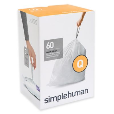 simplehuman® Code Q 60-Pack 13-17-Gallon Custom Fit Liners