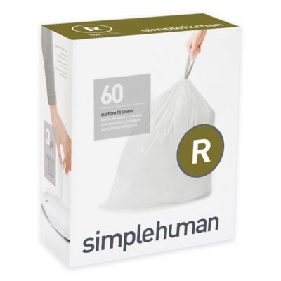 simplehuman® Code R 60-Count 2.6-Gallon Custom Fit Liners