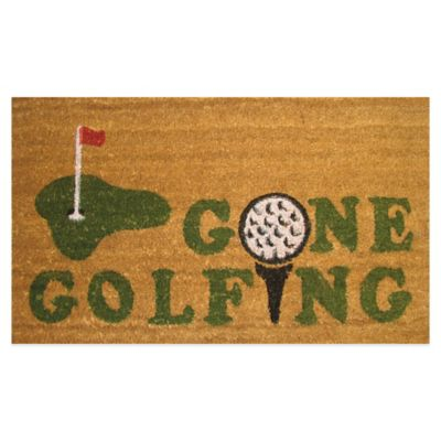 Gone Golfing 18-Inch x 30-Inch Door Mat