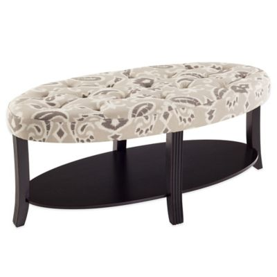 Bombay Kennedy Oval Coffee Table Ottoman