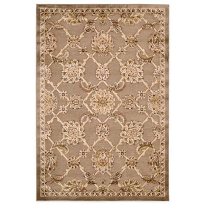 Kathy Ireland® Home Bel Air Circles 4-Foot 11-Inch x 7-Foot Rug in Brown