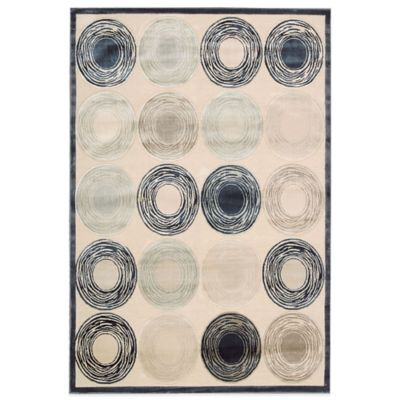 Kathy Ireland® Home Bel Air Circles 9-Foot x 12-Foot Rug in Ivory