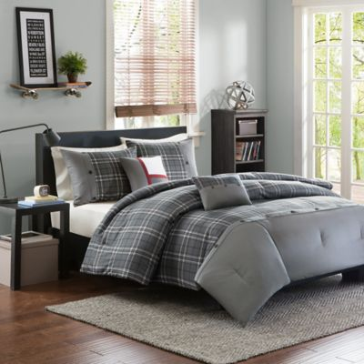 Intelligent Design Daryl 5-Piece Full/Queen Comforter Set in Grey