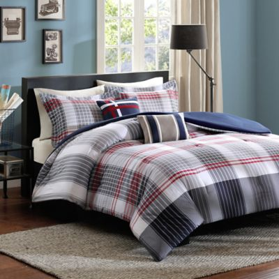 Intelligent Design Caleb 5-Piece Full/Queen Comforter Set in Blue