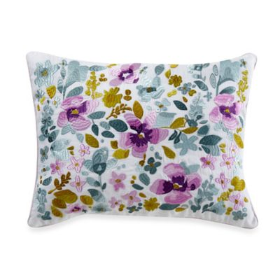 bluebellgray® Christine Embroidered Oblong Throw Pillow