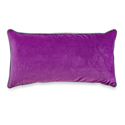 bluebellgray® Christine Solid Velvet Oblong Throw Pillow