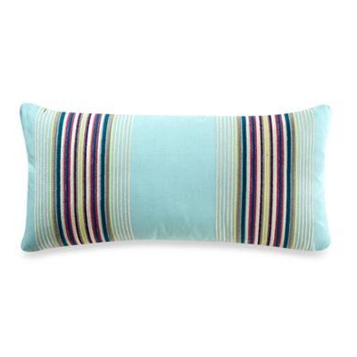 bluebellgray® Mode Welsh Stripe Embroidered Oblong Throw Pillow