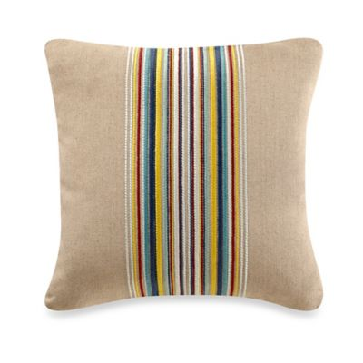 bluebellgray® Nevis Welsh Stripe Embroidered Square Throw Pillow