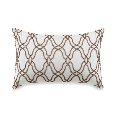 Wamsutta® Joliet Oblong Throw Pillow in White