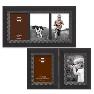 Prinz Monterey 2-Photo 4-Inch x 6-Inch Hinged Picture Frame in Black