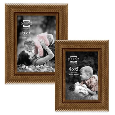 Prinz Fairfield 4-Inch x 6-Inch Wood Picture Frame in Walnut