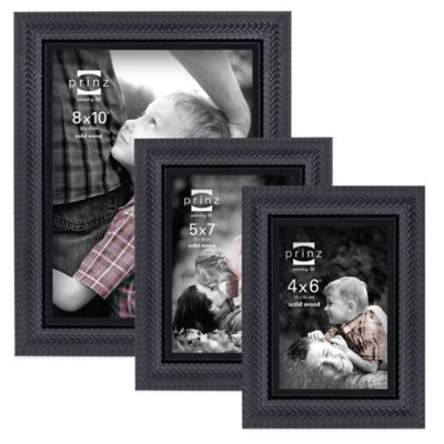 Prinz Fairfield 8-Inch X 10-Inch Wood Picture Frame in Black