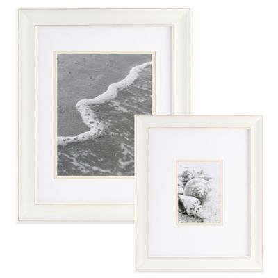 Real Simple® 8-Inch x 10-Inch Portrait Wall Frame in Distressed White