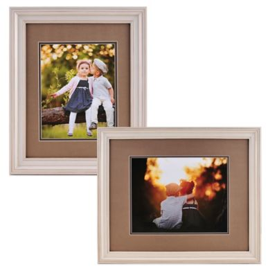 PhotoGuard 11-Inch x 14-Inch Portrait Frame with Double Mat in Cream