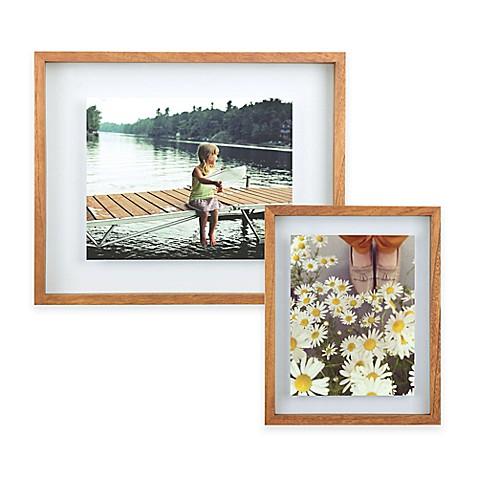 Umbra 174 Float Wood Picture Frame In Walnut Bed Bath Amp Beyond