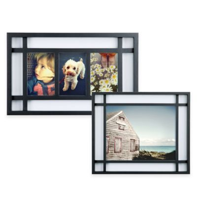 Umbra® Teju 3-Photo Wood Picture Frame in Black