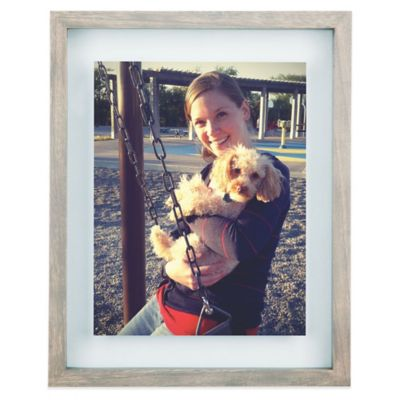 Umbra® Float 8-Inch x 10-Inch Wood Picture Frame in Grey