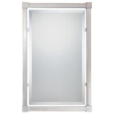 Quoizel® Silverlake 24-Inch x 37-Inch Mirror in Brushed Nickel