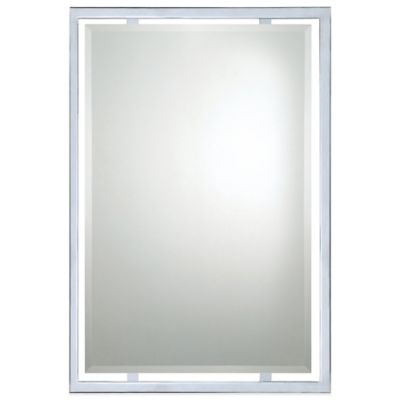 Norton 32-Inch x 22-Inch Mirror with Polished Chrome Finish