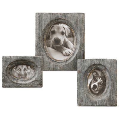 Uttermost Leonie 3-Piece Wooden Photo Frame Set