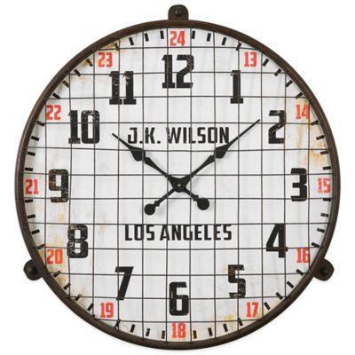 Uttermost Max Aged Wall Clock in Brown
