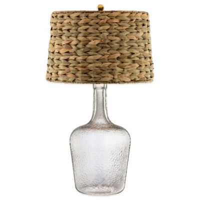 Stein World Glass Bottle Accent Table Lamp with Seagrass Shade