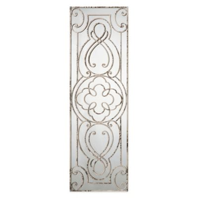 Uttermost Levante Metal Mirror in Distressed White