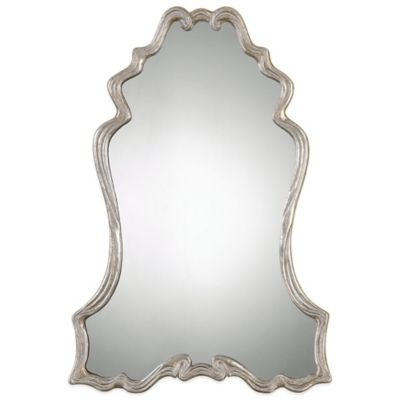 Uttermost Andria Mirror in Silver Champagne Leaf