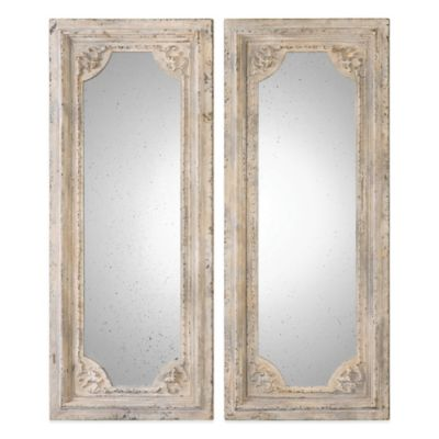 Uttermost Rapallo 42-1/2-Inch x 17-7/8-Inch Wall Mirrors (Set of 2)