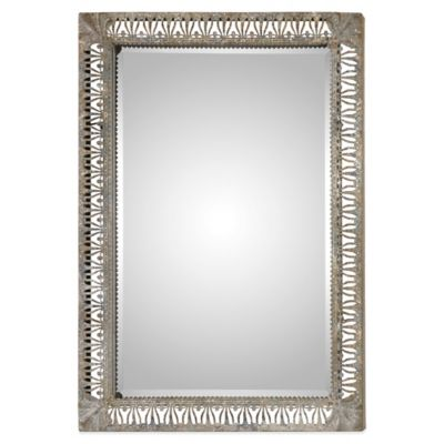 Uttermost Grosseto 34-Inch x 24-1/4-Inch Distressed Metal Wall Mirror