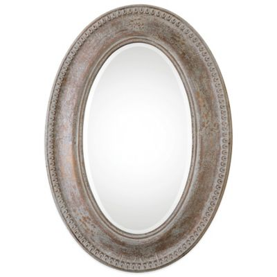 Uttermost Cibiana Oval Metal Mirror in Antique Gold Leaf
