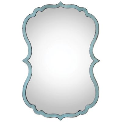 Uttermost Nicola Mirror in Light Blue