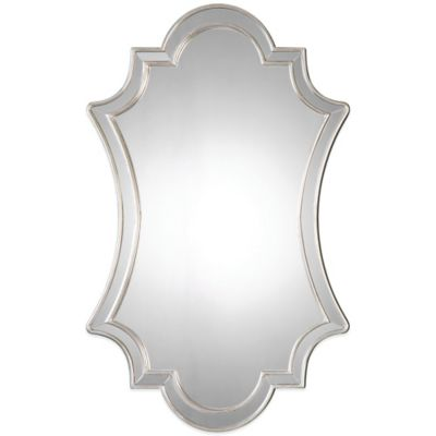 Uttermost Elara 43-Inch x 27-Inch Antiqued Wall Mirror in Silver