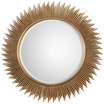 Uttermost Marlo Round Mirror in Gold