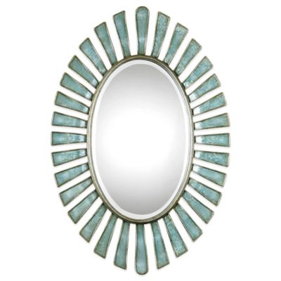 Blue Decorative Wall Mirror