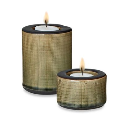 4-Inch Ceramic Round Candle Holder (Set of 6)