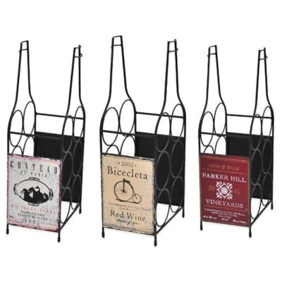 Elements 6-Bottle Wine Label Wine Rack