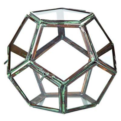 Geodesic 5-Inch Glass Terrarium