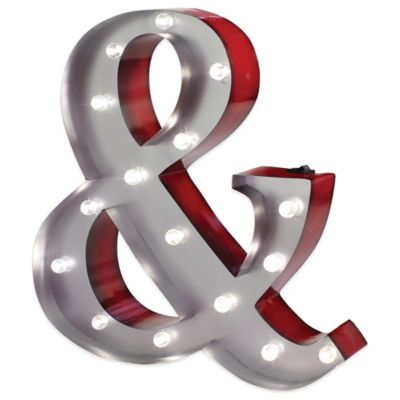 "Metal LED Marquee ""&"" Symbol"