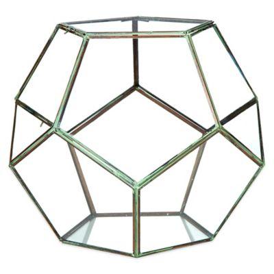 Geodesic 14-Inch Glass Terrarium