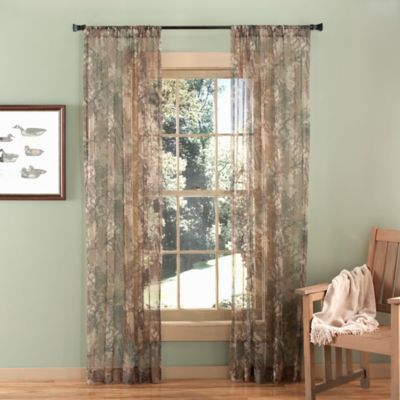 Vue 84-Inch Sheer Camo Window Curtain Panel