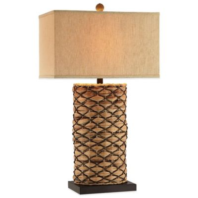 Panama Jack® Seagrass Latticed Accent Table Lamp