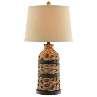 Seagrass Bottle Accent Table Lamp
