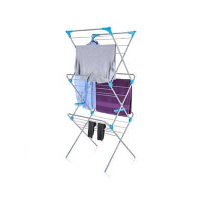 Minky Homecare 3-Tier Indoor Drying Rack in Silver