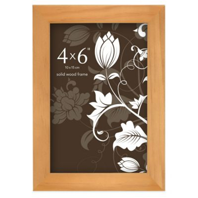 Prinz Soho 4-Inch x 6-Inch Wood Picture Frame in Natural