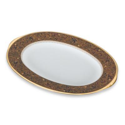 Noritake® Xavier Gold 14-Inch Oval Platter