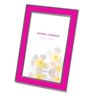 Swing Design™ Zoe 4-Inch x 6-Inch Picture Frame in Pink/Silver